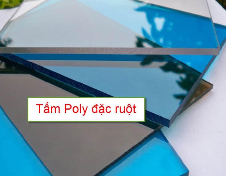 Tấm nhựa poly đặc ruột