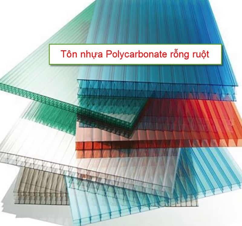 Tôn nhựa Polycarbonate rỗng ruột