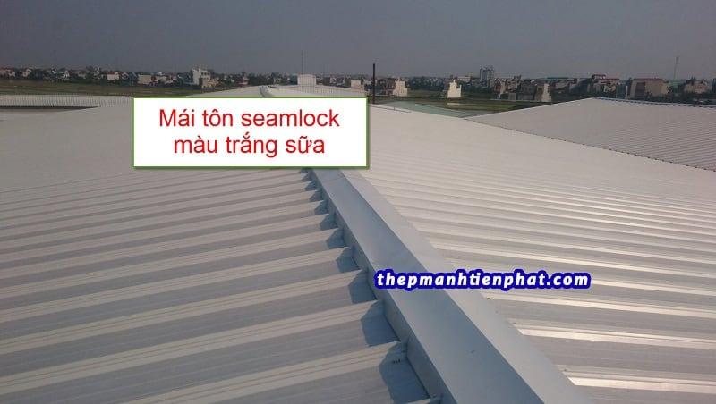 Mái tôn seamlock màu trắng sữa