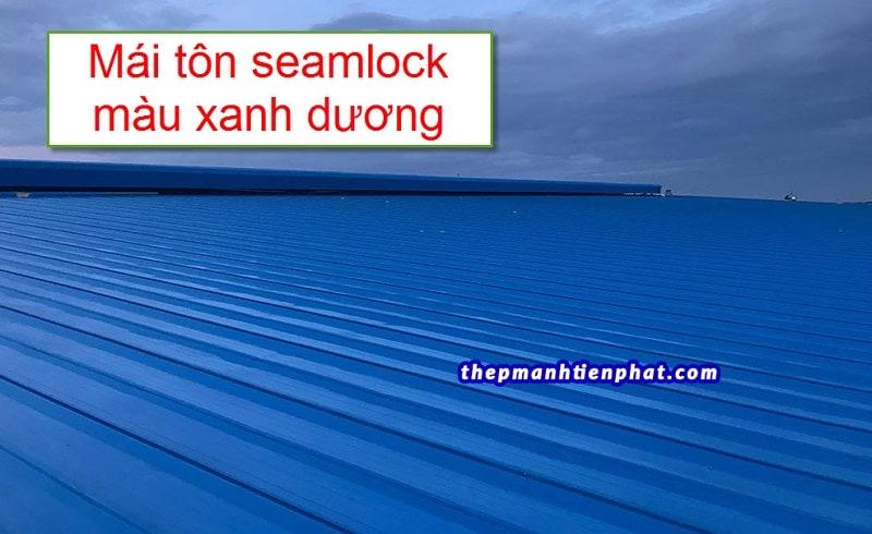 Mái ton seamlock màu xanh dương