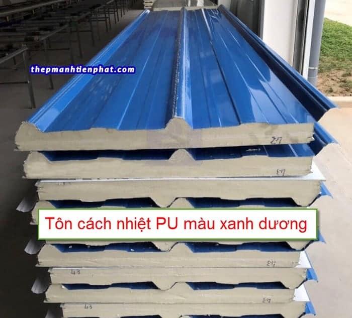 Tôn cách nhiệt PU màu xanh dương