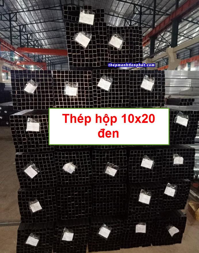 Sản phẩm thép hộp 10x20 đen