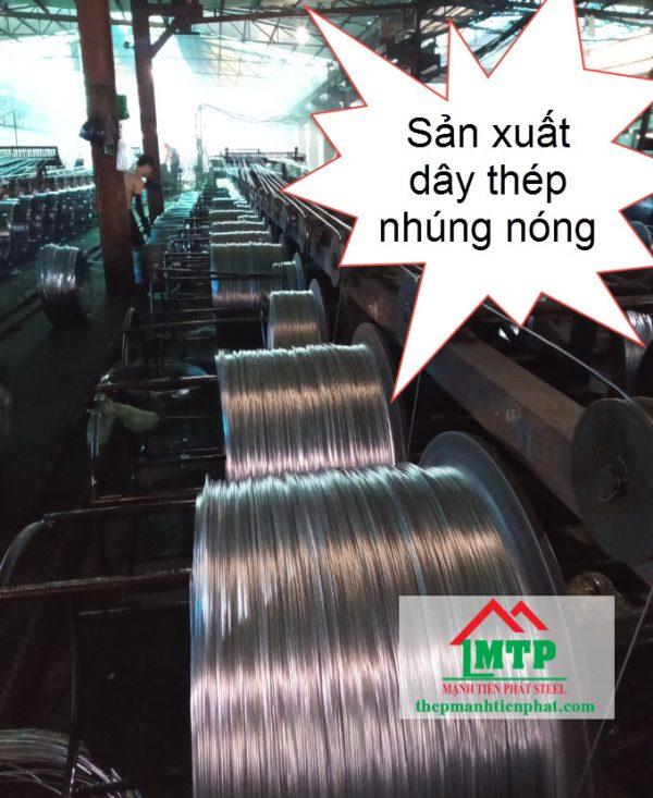 Sản xuất dây thép nhúng nóng