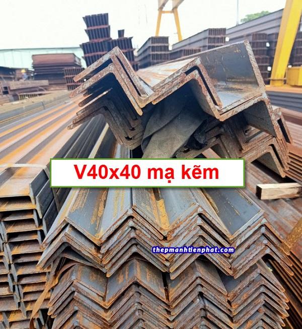 Thép hình V40x40 mạ kẽm