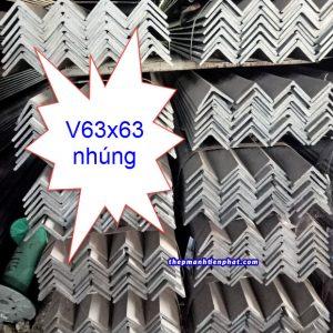 Thép V63x63 nhúng kẽm