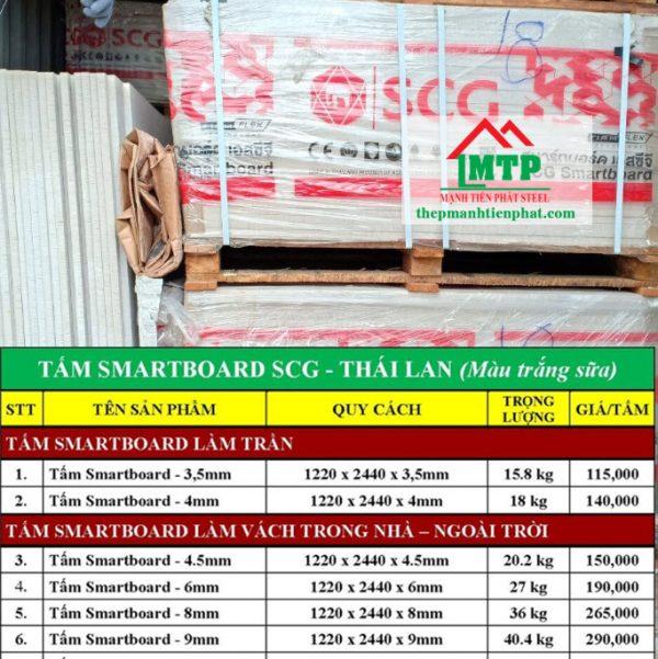 Giá tấm Smartboard SCG Thái Lan