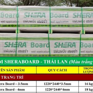 Báo giá tấm Shera Board Thái Lan mới nhất
