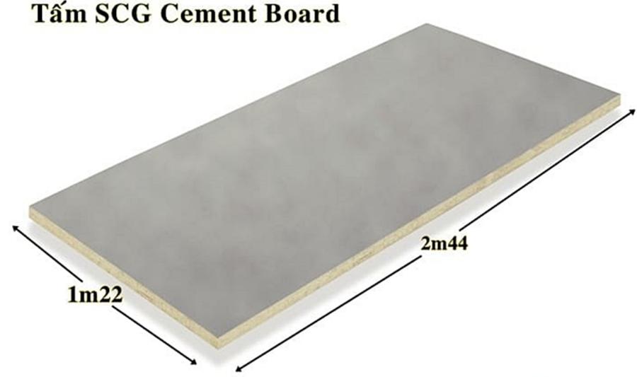 Kích thucows tấm Cenment Board SCG