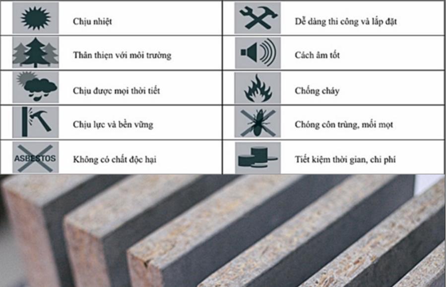 Ưu điểm của tấm Cement Board SCG Thái Lan